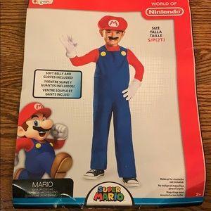 Mario costume in size (s/p - 2T)